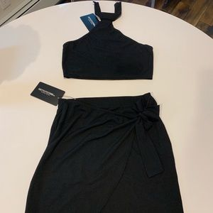 Black skirt set